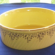 Hall Gold Floral Casserole Bowl
