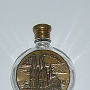 Dom Zu Koln Germany Glass and Brass Souvenir Perfume Bottle Cologne Cathedral