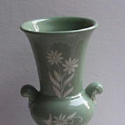 Abingdon Celadon Green Pottery Vase