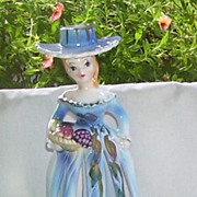 Vintage Artmark Napkin Lady with Candle Hat Top
