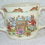 Beatrix Potter Royal Doulton Bunnykins  English China Cup