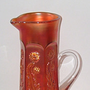 Fenton Carnival Glass Panelled Dandelion Tankard Marigold