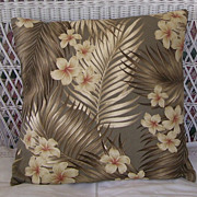 Vintage Hawaiian Bark Cloth Throw Pillow