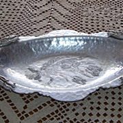 Hammered Hand Wrought Creation Serving Tray by Artist Rodney Kent