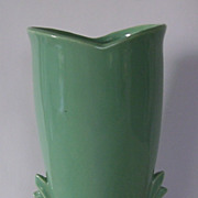 SOLD McCoy Green Nature Handles Pottery Vase