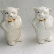 Shawnee Waiter Bow Ties Salt and Pepper Shakers