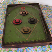 "Lindstrom's Antique Horseshoe Marbles Ping Pong Disc Game ""Works"