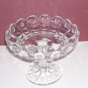 Victorian  EAPG  Moon and Sun Pattern Pedestal Candy Dish