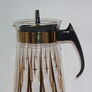 Pyrex 10 Cup Atomic Glass Coffee Pot