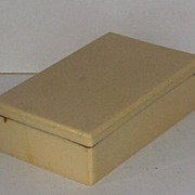 Celluloid French Ivory Stick Pin Jewelry Box with Two Stick Pins