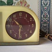 Westclox Celluloid Moonbeam Alarm Clock - Model S5-J Deco Design