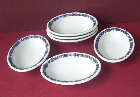 6 Shenango China  Side Dishes  B & O Railroad Co.Stearnes Co.
