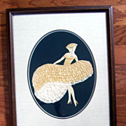 Art Deco Can Can Flapper Lady Framed Print