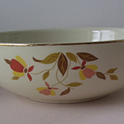 Hall's Superior Autumn Leaf Serving Bowl 9 inch
