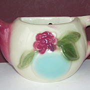 Shawnee Pastel Blue Plum Handle Teapot Wall  Pocket