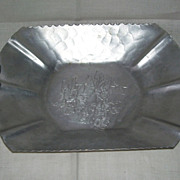 Hand Forged Rodney Kent Hammered Serving Tray