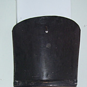 Antique Farm Black Metal Grain Scoop