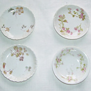 4 Haviland Limoges Porcelain Tea Bag, Butter Pat Plates or Salt Dips