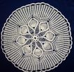 Beautiful Round Hand Crocheted Cream Colored Parlor Table Doily