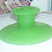 Fenton Jadite Jadeite Single Green Glass Candle Holder