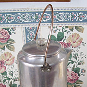 Antique Aluminum and Copper 20 Cup Tall Cook Stove, Camp Fire, Lodge Coffee Pot
