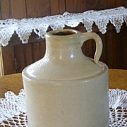 Antique Gray Salt Glazed Whiskey Moon Shine Shoulder Jug