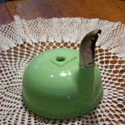 Sunbeam Green Jadite Glass Juicer Bowl With Metal Spout