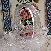 Brilliant Period Leaded Glass Crystal High Handle Basket