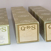 3 Vintage QRS Piano Rolls  The Godfather, The Entertainer, Somewhere My KLoive