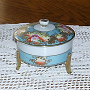 SALE PENDING Imperial China Hand Painted Nippon Powder or Trinket Jar