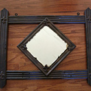 Antique Copper Metal Stained Framed Mirror