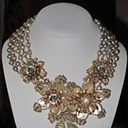 SOLD SOLD ---- Rare Extraordinary Vintage Baroque Pearl set Miriam Haskell Dramatic Grandiose