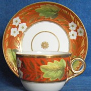 New Hall Cup and Saucer Pattern 672 c.1805