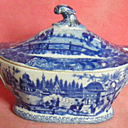 Ridgways Eastern Port B/W Sauce Tureen c.1825