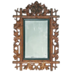 Decorative 19th C. 'Black Forest' Mirror in carved floral frame