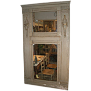 SOLD Mid 19th Century French 'Trumeau' Overmantel Mirror