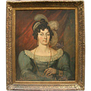 Early 19th Century Painting of a French Noblewoman