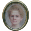 Small Chalk drawn picture of a Young Woman