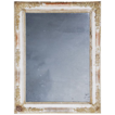 Attractively worn Floral frame Mirror with traces of ancient paintwork