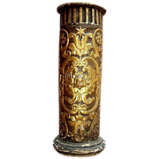 Beautiful carved  Column from 18th C. Italy with  winged Angel motif