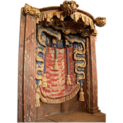 17th century Ornately carved Church Alcove from Spain or Portugal