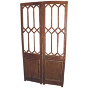 Pair of Decorative French multi-pane Entry Doors   c.1900