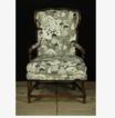 Superb 19th Century walnut French 'Bonne Femme' Armchair in re-upholstered fabric