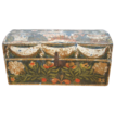 Traditional painted Marriage Coffer-Box from Normandy