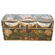SALE Traditional painted Marriage Coffer-Box from Normandy