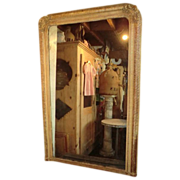 French 19th Century 'Linenfold' style overmantel Mirror