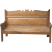 Early 19th Century  Pine Bench Seat from Spain.