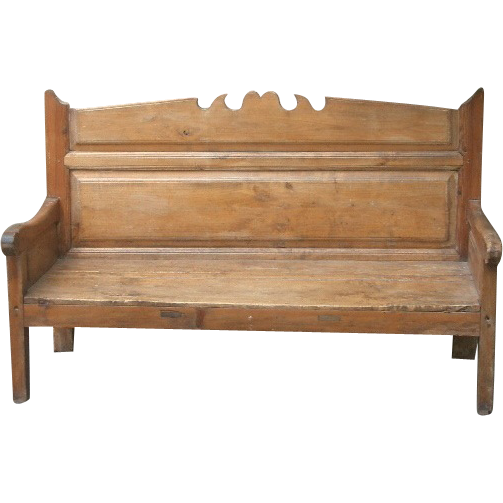 Early 19th Century Pine Bench Seat from Spain. from relic on Ruby Lane