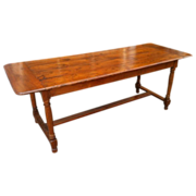 French Refectory Dining Table in Cherrywood