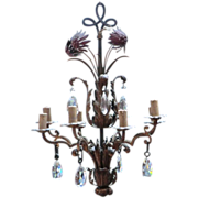 Decorative Italian Chandelier with crystal droplets